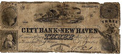 Rare City Bank Of New Haven Obsolete