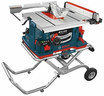 """Bosch GTS1041A-09 REAXX Jobsite Table Saw with Gravity-Rise Wheeled Stand, 10"""""""
