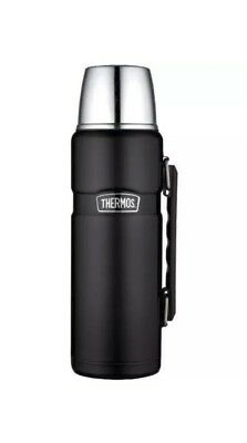 Thermos King Stainless 40-oz Vacuum-Insulated Food/Beverage Bottle Tumbler Black