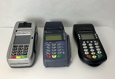 3X Lot Of Credit Card Terminals. First Data,Verifone,Hyper Com. All Working