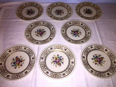 """8 Vintage K&A Krautheim Selb Bavaria Germany ~ 9"""" Luncheon Plates ~ Excellent"""
