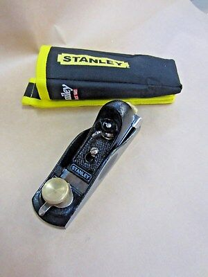 STANLEY FULLY ADJUSTABLE PLANE 1-12-060 160MM w BELT POUCH ~ NEW NEVER USED