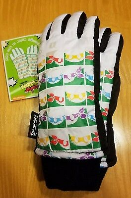 NWT Freezy Freakies 3M Thinsulate White TMNT Color Change Winter Gloves XS/S