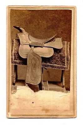 Rare CDV 1864 of  Ranson's No. 2 Lace Western Saddle Seat  Hand tooled