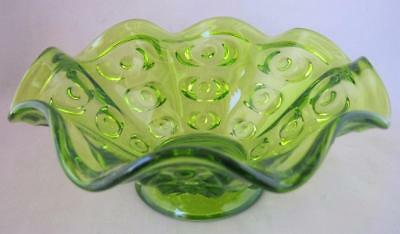 Unique Vintage Antique Green Glass Bowl with nicely designed pattern
