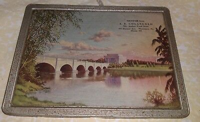 Vintage Framed Advertising Picture  MONESSEN,PA