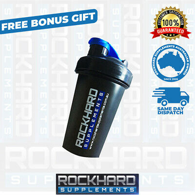 Rock Hard Supplements Shaker 400ml Bottle Blender Gym Mixer Protein Cup