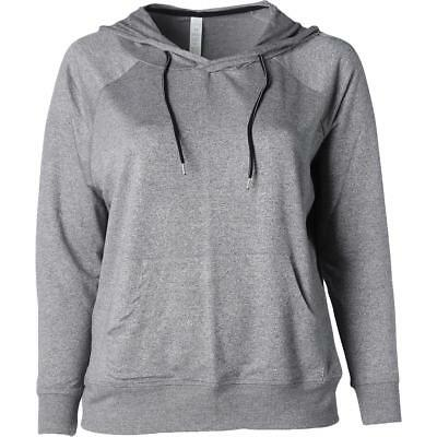The Balance Collection 4813 Womens Harmony Gray Hoodie Athletic Plus 1X BHFO