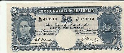Australia 5 Pounds Coombs & Watts VF