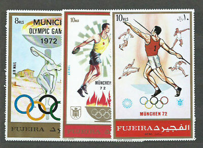 South Arabia Este (Fujeira) - Michel Mail 882/A882/B882 Mnh Olympics of Mun