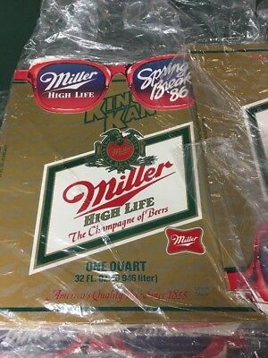 lot 6 RETRO 1986 MILLER HIGH LIFE BEER ADVERTISING DISPLAY KING KAN 3D NOS AS IS