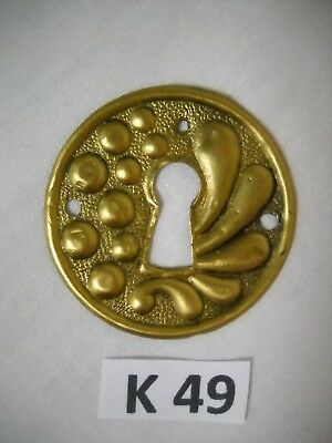 Antique Victorian Stamped Brass Keyhole Cover