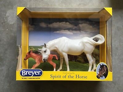 New NIB Breyer Horse #430011 Susecion Arabian Mare Foal Le Fire Warehouse Find