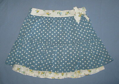 Janie and Jack First Bloom Blue Polka Dot Floral Bow Skirt 3T VGUC
