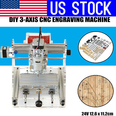 US 3 Axis DIY Mini CNC Router Engraving PCB Milling Machine Engraver Wood Cutter