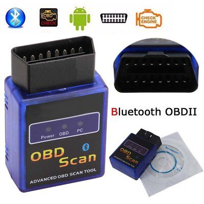 ELM327 Bluetooth OBD2 OBDII Auto Car Diagnostic Scanner Tool for Android Phone