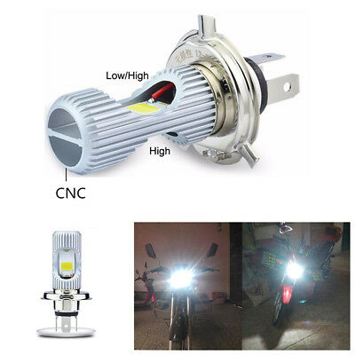 H4 LED Motorcycle Headlight Blub 12W 1400LM 6000K Moto Light Scooter Accessory
