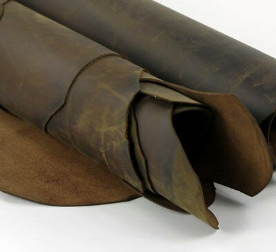 LEATHER HIDES COW SKINS brown thick genuine leather about 2mm cowhide vintage