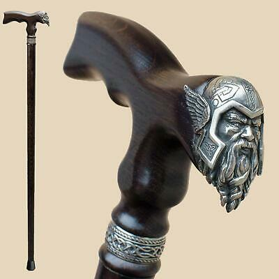 Unique Mens Walking Stick Thor Heavy Duty Vintage Wooden Walking Cane 32-39""