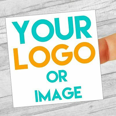 Custom Logo Labels/stickers 80mm Square Personalised Business/Company Name