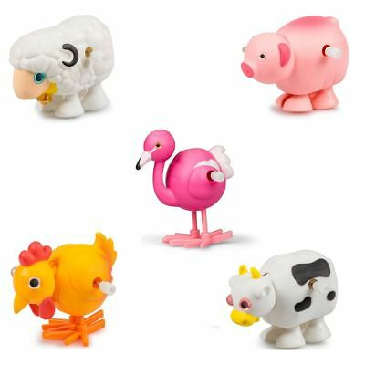 Traditional Clockwork Wind Up Farm Animal Toy Xmas Stocking Party Bag Filler