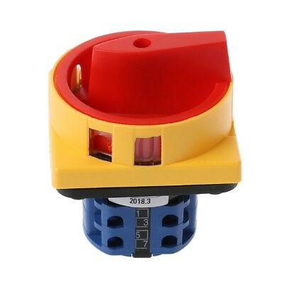 LW26-20GS-20/04-2 Padlock Rotary Cam Switch OFF-ON 2 Way 4Pole 8 Screw Terminals