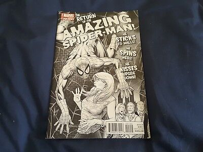 AMAZING SPIDERMAN 1 (DISPOSABLES HERO'S B&W Variant)