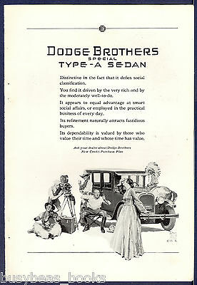 1926 DODGE BROTHERS advertisement, Type-A Sedan, movie set