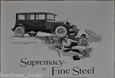 1926 Dodge Brothers advertisement, DODGE Sedan, picnic, Chrome Vanadium Steel