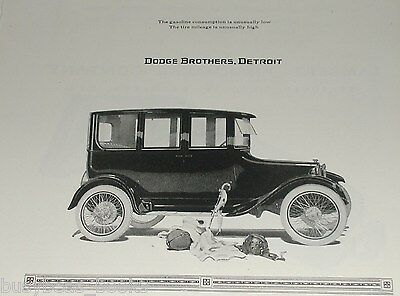 1920 Dodge advertisement, DODGE Brothers Motor Car, 4-door sedan