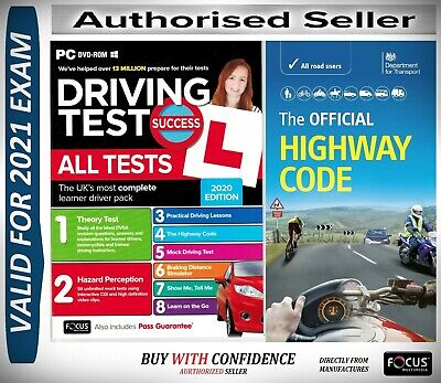 2019 Driving Theory Test & Hazard CD DVD + Official DVSA Highway Code Book-AtpHw