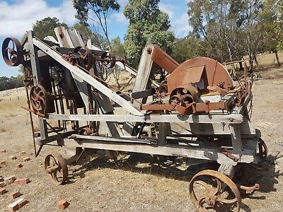 old farm machinery double bag chaff cutter