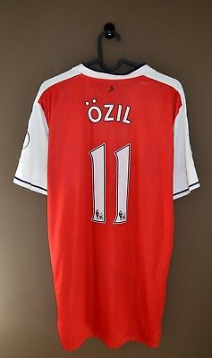 fcb60929 Arsenal London 2015 2016 Ozil #11 Home Football Shirt Jersey With Patches  Puma