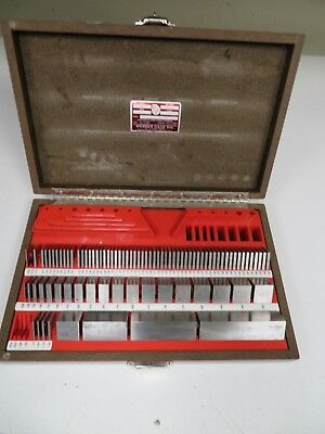 Starrett Webber Gage Block Set - 87 Pcs. - SCS81AX Croblox/Steel mixed - NA20