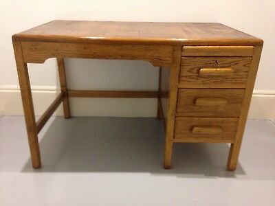 Wooden oak desk, vintage , antique , 20th century