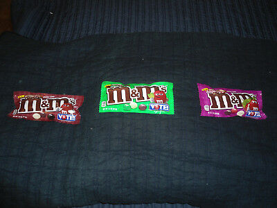 NEW 2018 M&M's VOTE Crunchy Espresso, Raspberry, Mint 3 Bags Total FREE SHIPPING