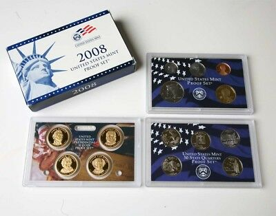 2008 US Mint Proof Set 14 Coin Set, Original Government Packaging, Ships Free!