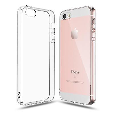 Crystal Clear Transparent Soft TPU Back Cover For iPhone Apple SE 5S 5