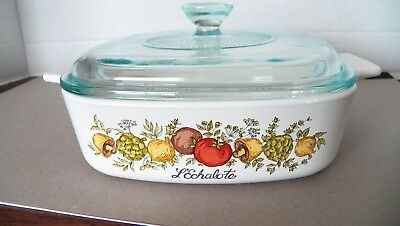 """Corning Ware """"Spice of Life"""" 1 Quart Covered Casserole A-1-B w/Lid"""