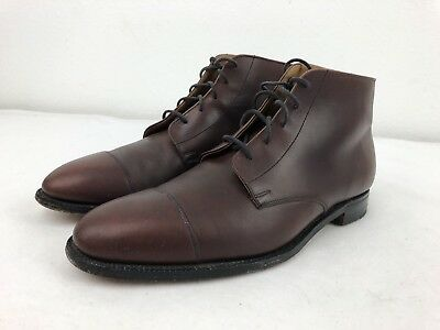 CHURCH'S ROYAL TWEED Cordovan Leather Cap Toe Shoes Boots Men's 10 D.