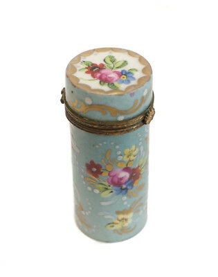 Sevres French Hand Painted Porcelain Pill Snuff Trinket Box, circa 1900