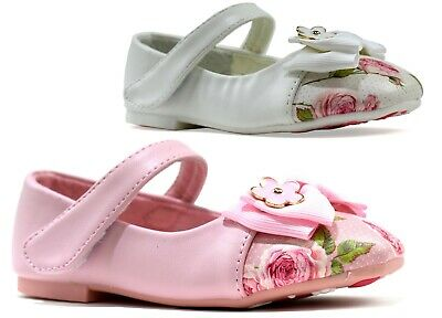 Girls Floral Sandal Flat Bow Style Summer Infant Casual Shoes Uk Sizes 1- 6