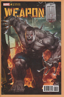 Lot Of (2) Marvel Comics Weapon H #1 Variant Edition Incentive Covers