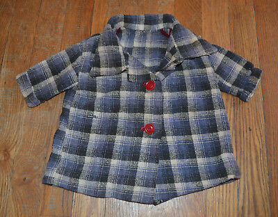 Vintage Child Flannel Jacket! Flannel with Pleated Back! Great Condition!