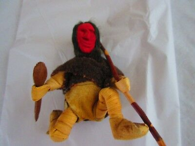 Antique/Vintage Red Face  Indian  , handmade  Iroquois