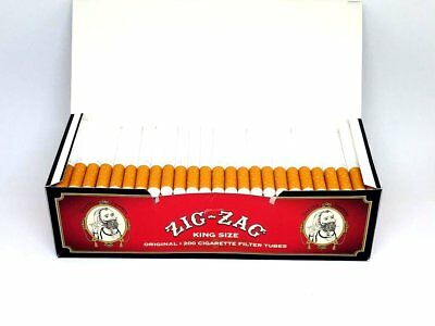 1x Box Zig Zag Full Flavor KING SIZE  ( 200 Tubes )  Cigarette Tube Tobacco