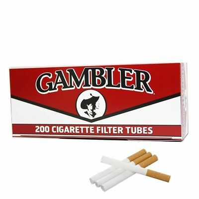 1x Box Gambler Full Flavor KING SIZE  ( 200 Tubes )  Cigarette Tube Tobacco