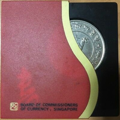 1991 SINGAPORE CuNi 10 Dollars Year of the GOAT BCCS COIN CHINESE NEW YEAR COIN