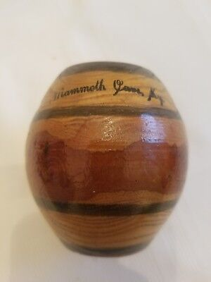 vintage Mammoth Cave Kentucky Wood Bark Tree Barrel souvenir