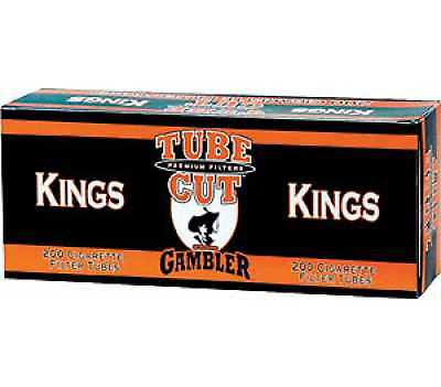 1x Box Gambler Full Flavor Tube Cut KING SIZE ( 200 Tubes ) Cigarette Tube